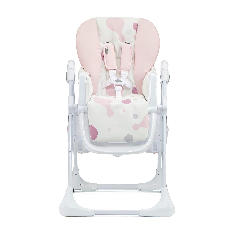 R/églable Kinderkraft YUMMY Chaise Haute Enfant Avec Harnais Rose Pliable