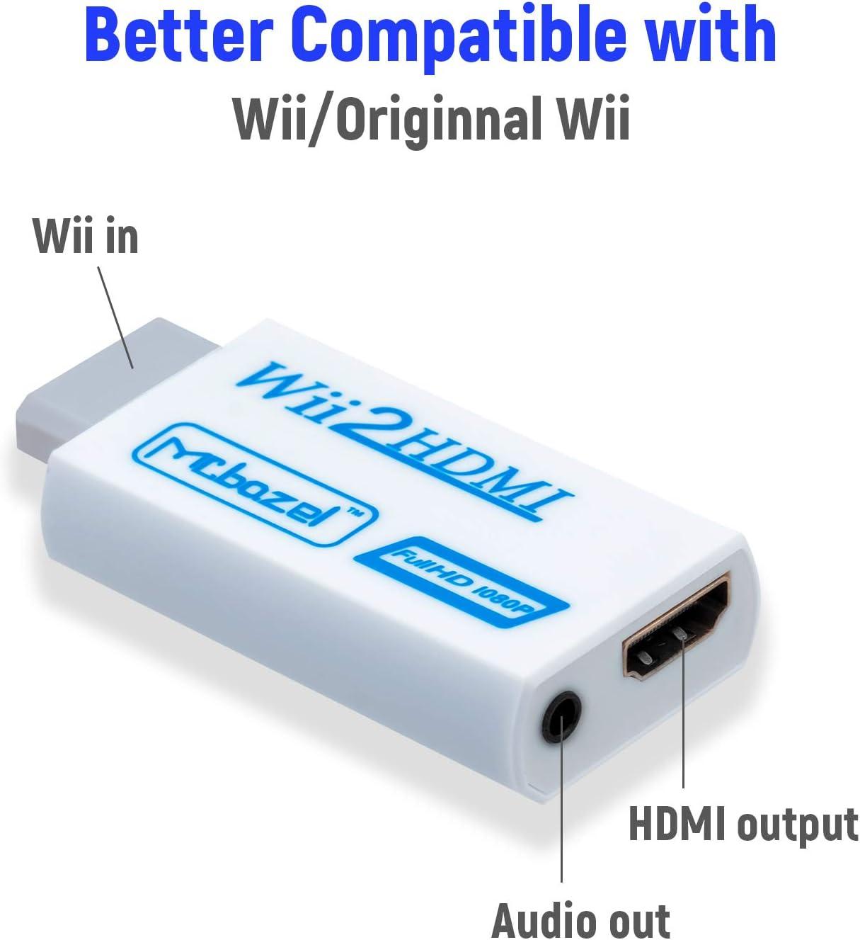 Mcbazel Wii a HDMI Converter, convertidor de Adaptador de Video Full HD 1080P con Audio de 3.5mm: Amazon.es: Electrónica