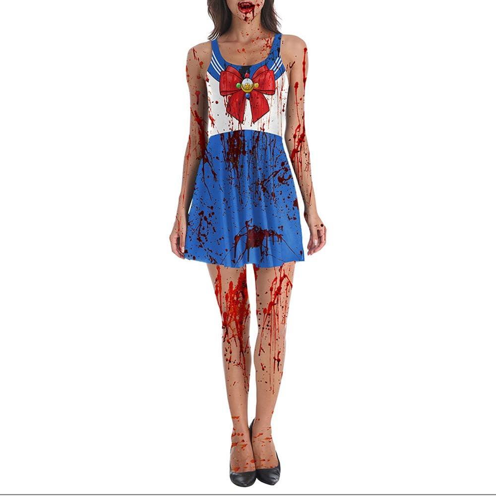 Disfraz de Enfermera de Zombie para niñas Traje de Cosplay de Enfermera Adulto Mujeres Bloody Horror Chaleco Vestido para Halloween Masquerade Party Performance