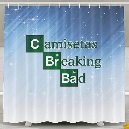 D.Mota Camisetas Breaking Bad Shower Curtain 60x72inch