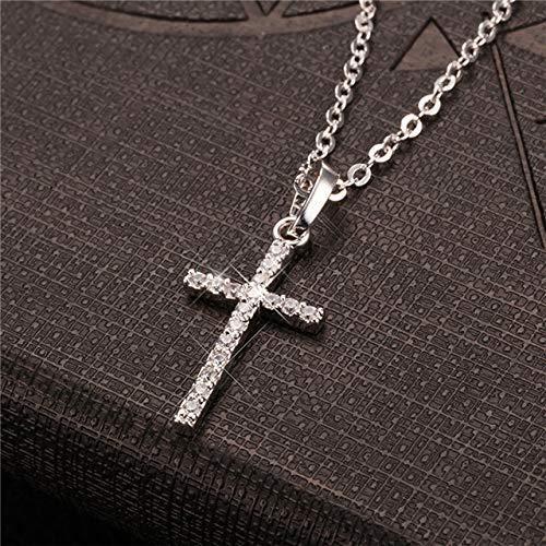 Davitu Fashion Male Cross Pendants Gold Black Color Stainless Steel Jesus Cross Pendant Necklace Jewelry for Men//Women Metal Color: YW0736S, Length: 60 cm