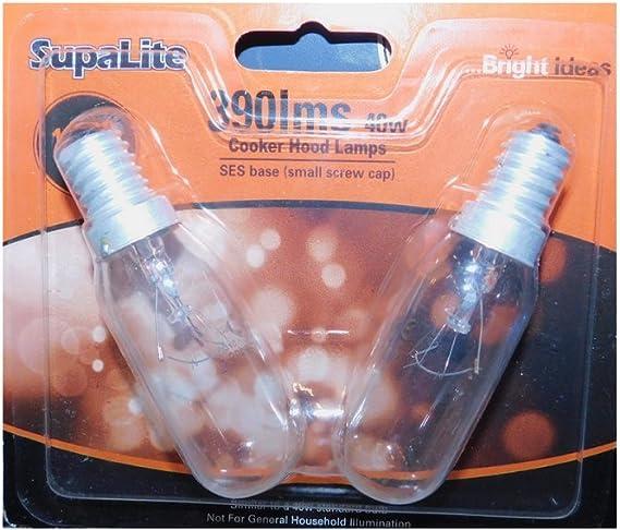 Bombillas para campana extractora de SupaLite 240 V 40 W SES: Amazon.es: Bricolaje y herramientas