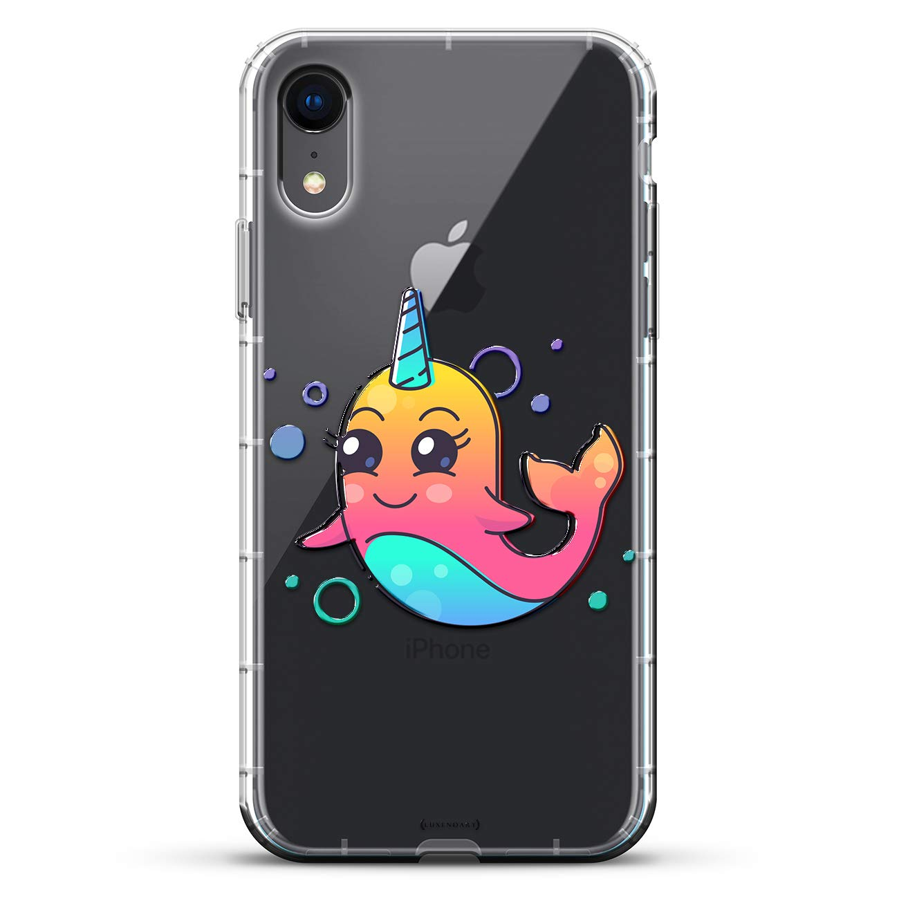 8e7da013aa Cute Unicorn Dolphin   Luxendary Air Series Clear Silicone Case with 3D  printed design and Air-Pocket Cushion Bumper for iPhone XR (new 2018/2019  model with ...