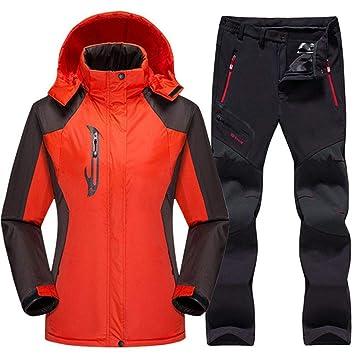 QZHE Traje de esqui Traje De Esquí A Prueba De Agua Mujer Chaqueta ...