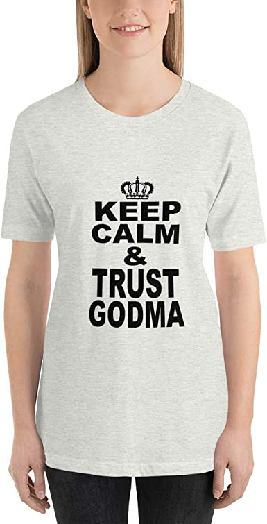 Keep Calm /& Trust Godma Intomyz Cool Short Sleeve Casual T-Shirts with Cute Sayings for Godmother