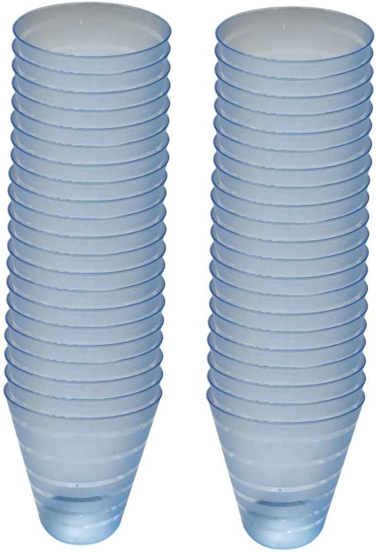 WhopperIndia Tumbler Beverage Cups, Restaurant Quality, Plastic, 50 Disposable Cups, 8 oz, Blue, Outdoor Parties, Picnics, BBQ's, Travels and more