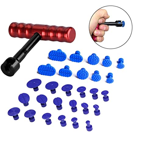 Tool Sets Auto Body Car Paintless Dent Repair T-bar Puller 18 Tabs Set Hail Damage Removal Tools Kit
