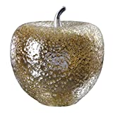 Uttermost 18765 Golden Apple - 13.5'' Sculpture, Gold Mercury Finish