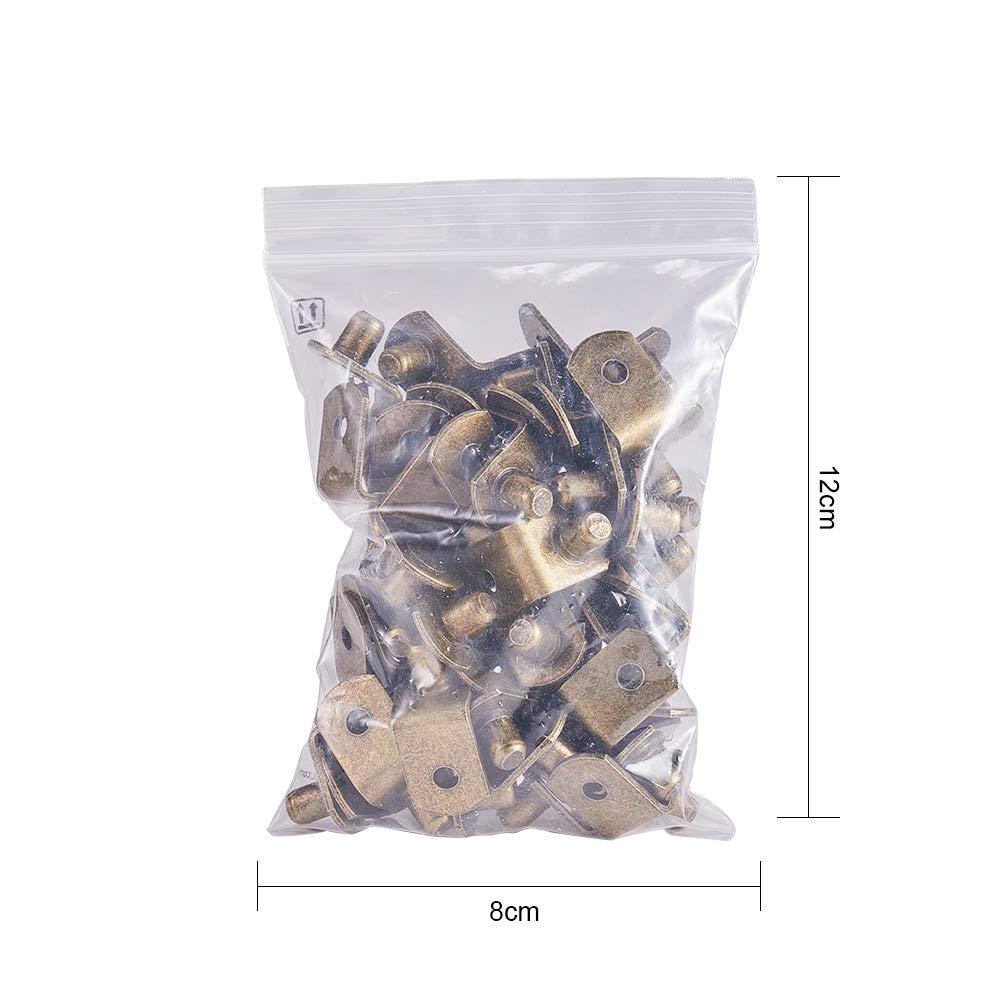 INCREWAY Pinzas de soporte para estante de armario con agujero 50 unidades forma de L