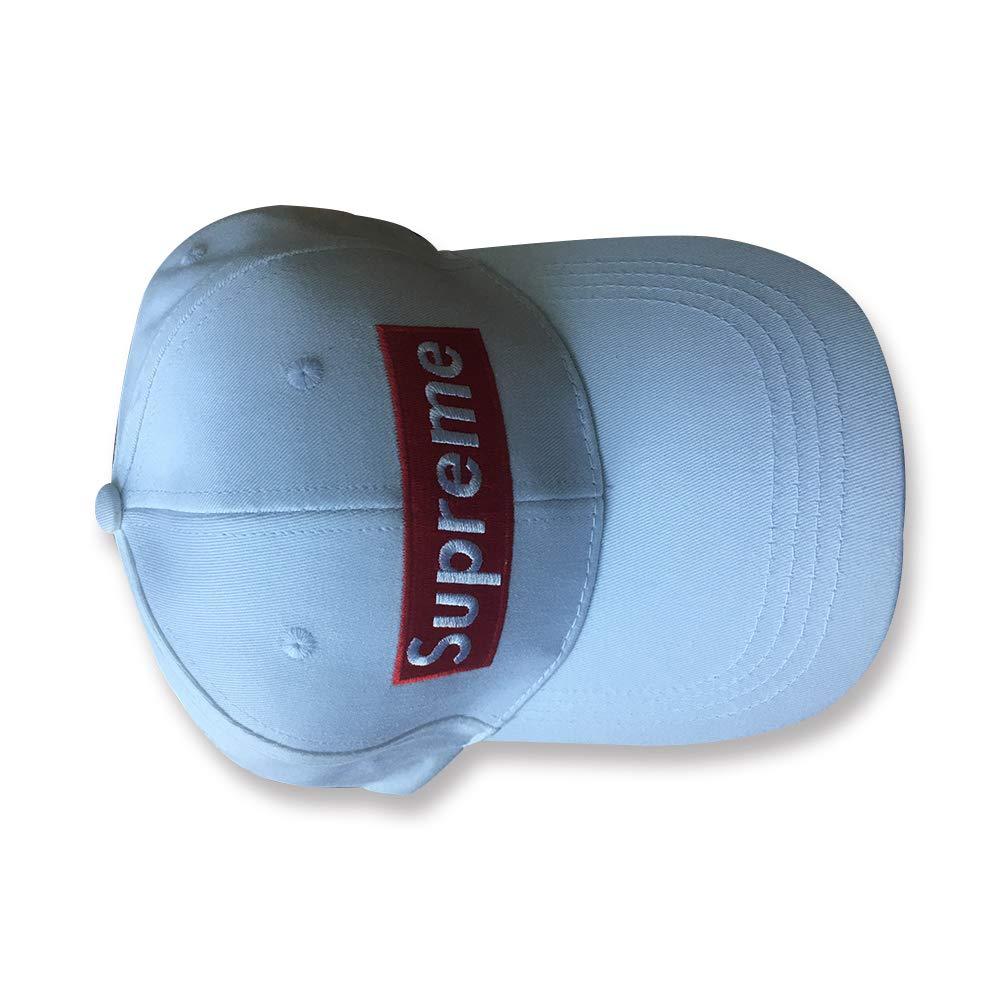 By Supreme - Gorra de béisbol - para Mujer Blanco Blanco Talla única: Amazon.es: Ropa y accesorios