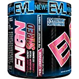 Evlution Nutrition ENGN Shred Pre Workout Thermogenic Fat Burner Powder, Energy, Weight Loss, 30 Servings (Pink Lemonade)