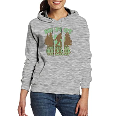 Bigfoot Undefeated Hide and Seek Champion Hoodie Sweatshirt Pockets for Womens
