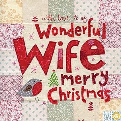 Maravillosa esposa felicitaciones navideñas - grandes, tarjetas de ...