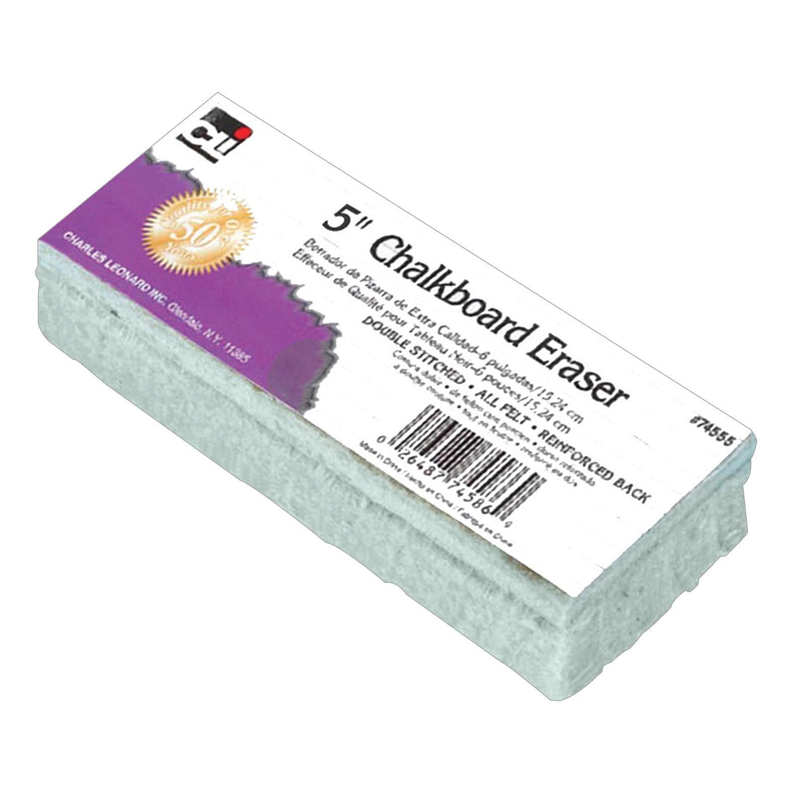 Charles Leonard CHL74555BN Standard Chalkboard Eraser, Pack of 12