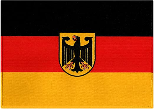 NEW OLD EAST GERMANY DEUTSCHLAND COUNTRY FLAG SMALL IRON ON PATCH CREST BADGE ..