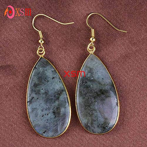 Light Yellow Gold Color Pink Quartz Black Agates Water White Shell Earrings Blue Cat Eye Stone Jewelry