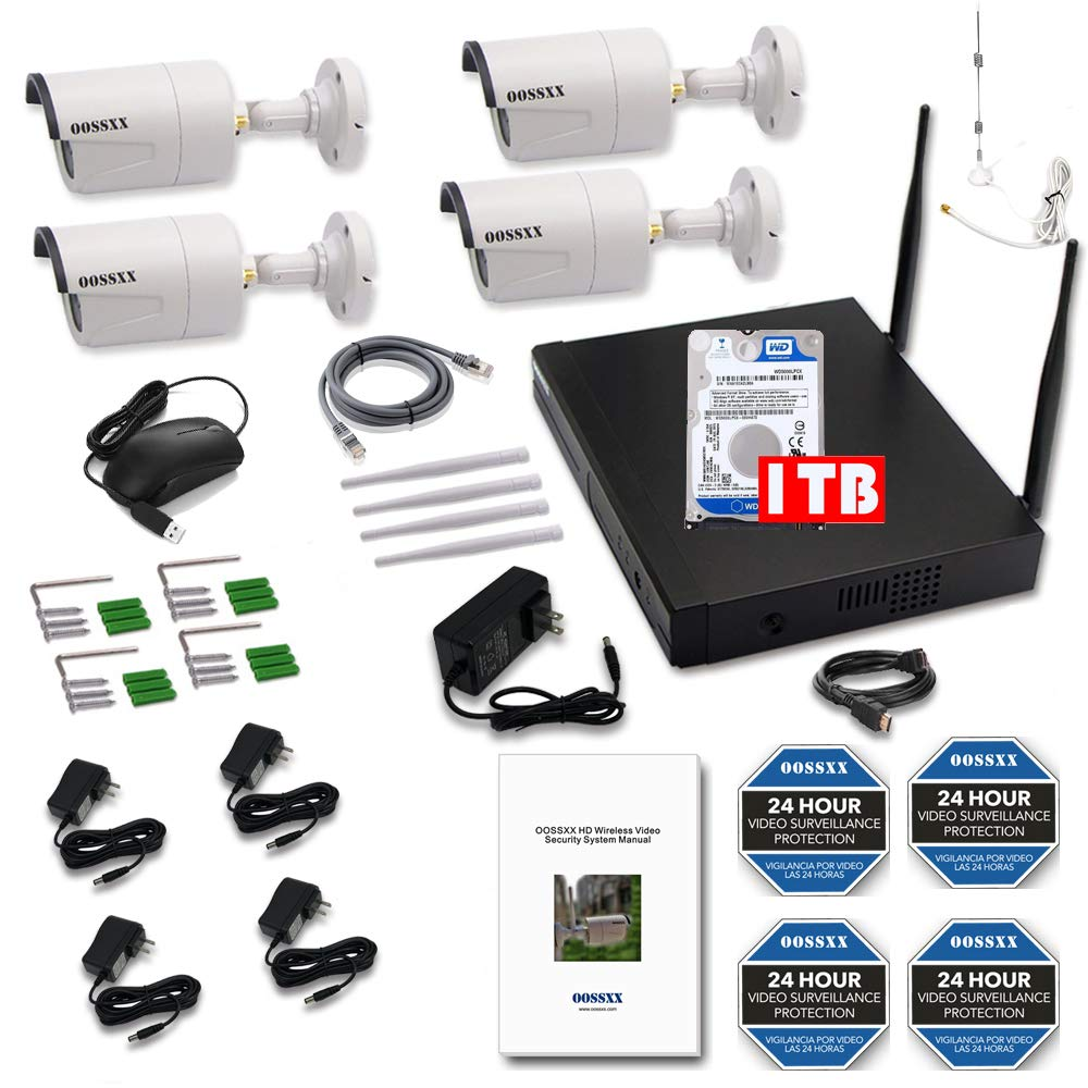 【2019 Update】 HD 1080P 8-Channel OOSSXX Wireless Security Camera System,6Pcs 1080P 2.0 Megapixel Wireless Indoor//Outdoor IR Bullet IP Cameras,P2P,App HDMI Cord /& 2TB HDD Pre-Install