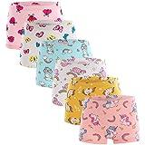 Boboking Soft 100% Cotton Girls' Panties Boyshort Little Girls' Underwear Toddler Undies