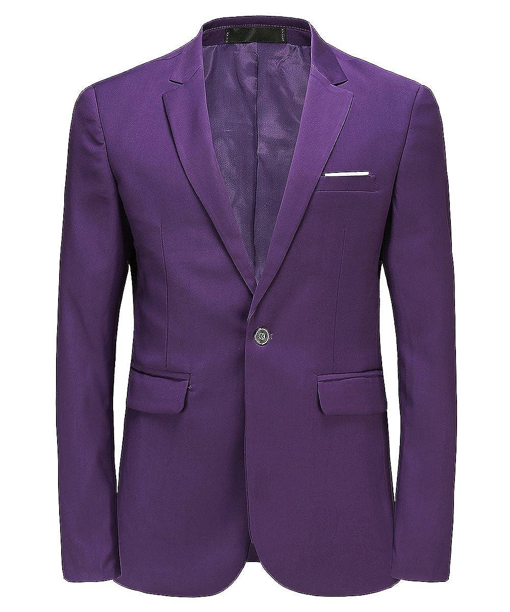 MOGU Giacca da Uomo Fashion Slim Fit Business Blazer Casual Blazer Business  46 per il torace a144cdafb3d