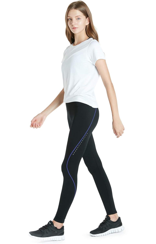 TSLA Winter Thermal Running Fleece Lined Pants Cycling Tights w Rear Pocket