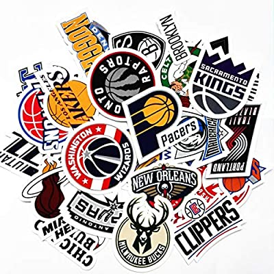 30 NBA Stickers Basketball Team Logo Set. All 30 Teams. Plus 10 More. Die Cut. Lakers Bulls Heat Warriors Celtics Cavaliers Thunder Spurs Knicks Mavericks Clippers Rockets Pacers Nets Magic Pelicans: Toys & Games