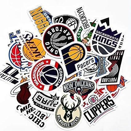 30 Nba Stickers Basketball Team Logo Set All 30 Teams Plus 10 More Die Cut Lakers Bulls Heat Warriors Celtics Cavaliers Thunder Spurs Knicks