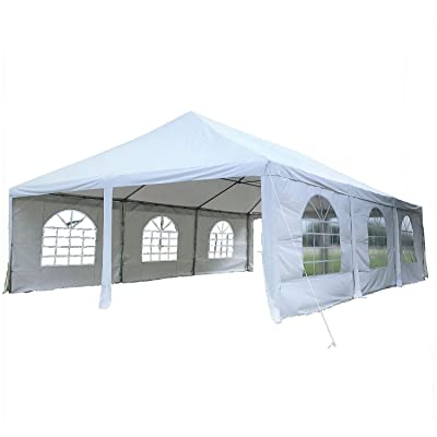 DELTA Canopies 30'x20' PE Frame Tent - Wedding Party Canopy Shelter - White : Garden & Outdoor