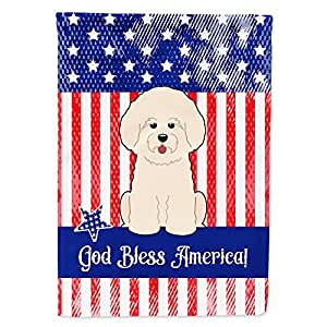 Caroline tesoros del bb3070gf patriótica Estados Unidos Bichon Frise bandera Tamaño del jardín, pequeño, multicolor