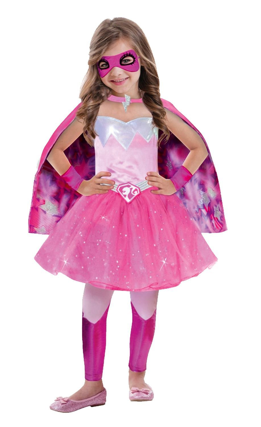 Barbie Super Power Princess Costume To Fit 3 5 Years Amscan International Amazoncouk Toys Games