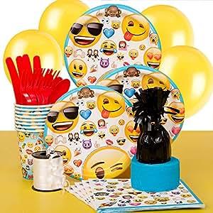 Unique Emoji Party Supplies Kit For 8 Amazonmx