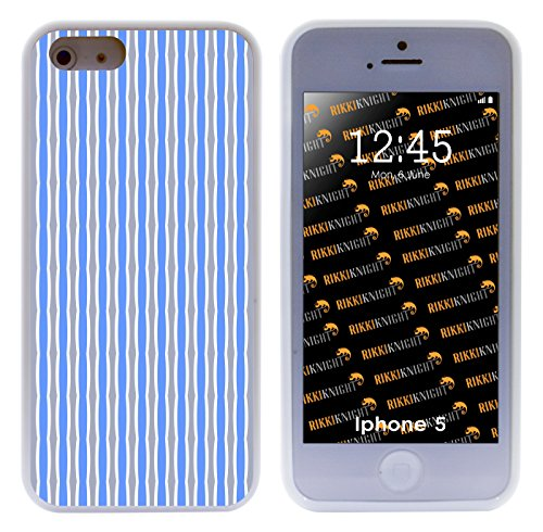 Rikki Knight Blue and Grey Swirly Stripes Hybrid iPhone Case for Apple iPhone 5 & (Swirly Stripe)