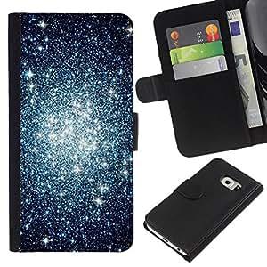 Stuss Case / Funda Carcasa PU de Cuero - Cluster Cielo Nocturno Universo - Samsung Galaxy S6 EDGE