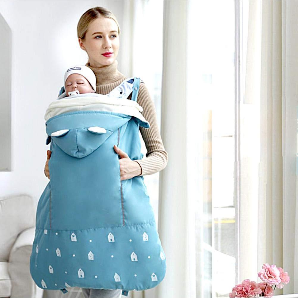 SOWLFE Baby Carrier Baby Sling Antivento Impermeabile Copertura Antipioggia Mantello Baby Addensato Antivento Calore Coperta Sacco Nanna Dark Gray
