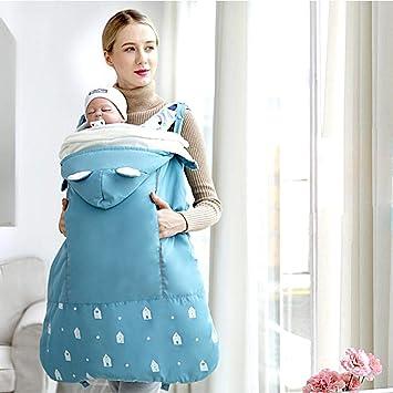 d3c57994c9f0 Porte Bébé Couverture, Nouveau Manteau de Portage avec Chapeau Chaud Doux  pour Maman Bébé,