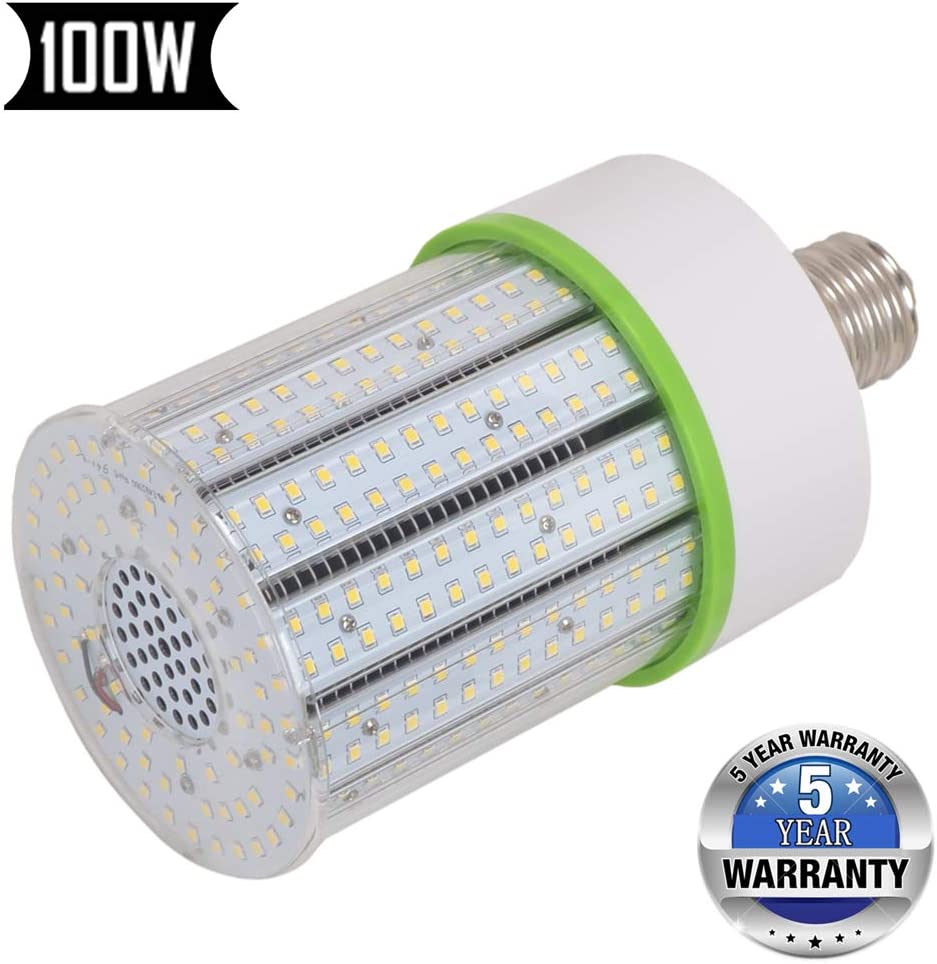 100W E39 Mogul Base LED Bulbs 5000K Daylight LED Corn Cob Light Bulb, Replacement for Fixtures HID/HPS/Metal Halide or CFL