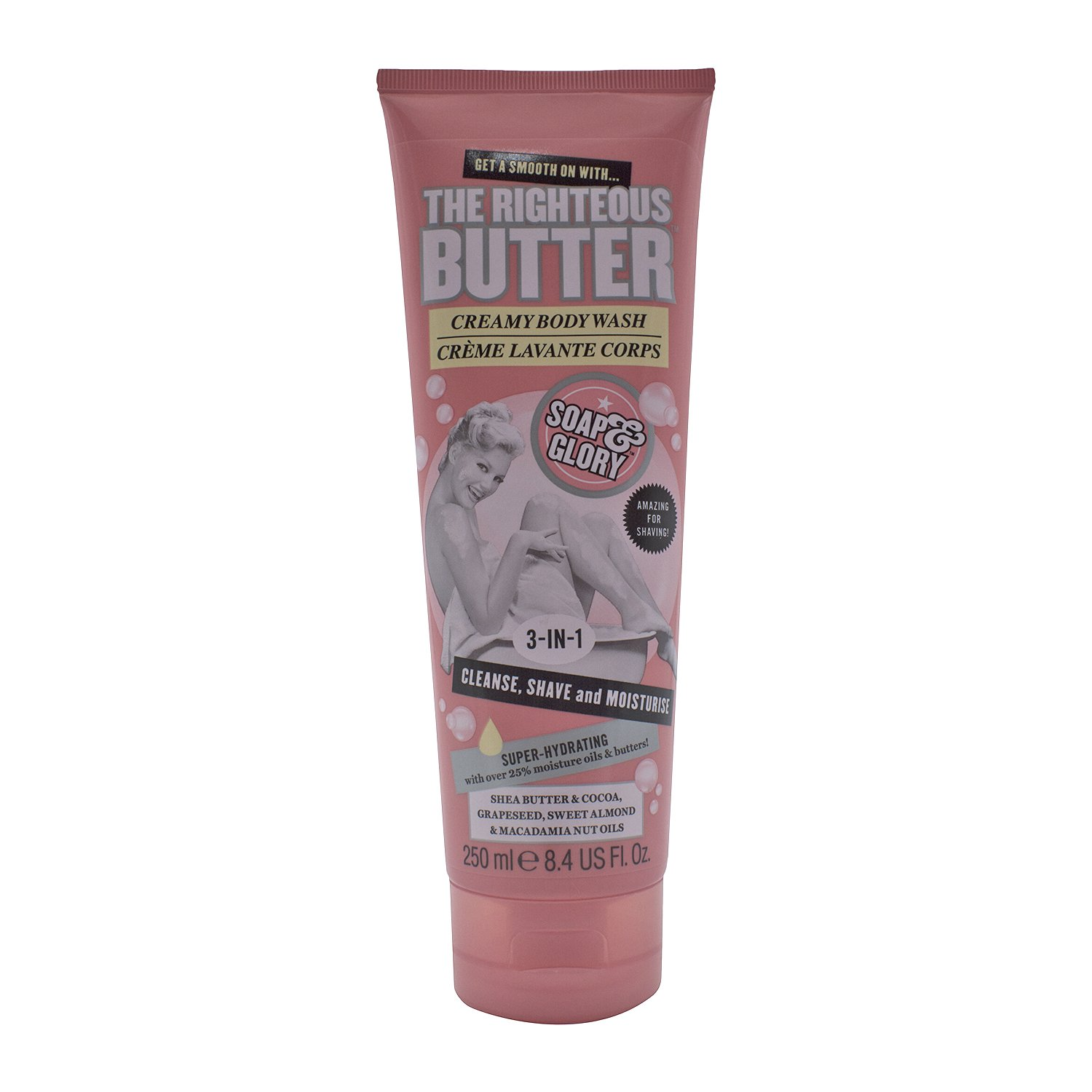 Soap and Glory The Righteous Butter 3-in-1 Creamy Shower Gel 250ml Soap & Glory