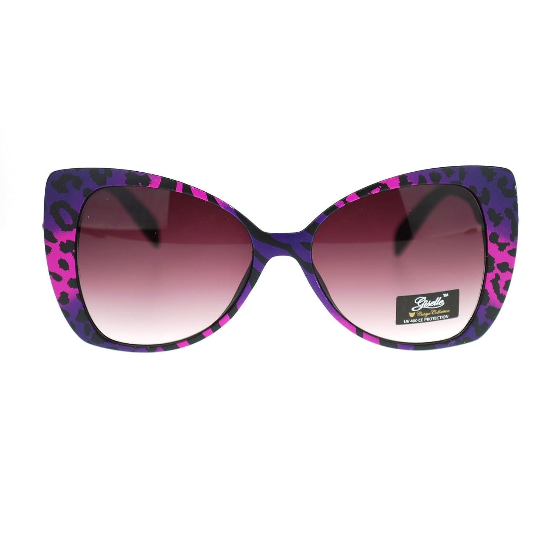 e4609f3f7e delicate Giselle Color Leopard Animal Print Cat Eye Butterfly Sunglasses