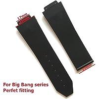 Guarda Accessorie cinturino in silicone per Hublot per BIG BANG Cinturini per uomo 25 * 17Mm Cinturino orologio con logo in acciaio fibbia piatta