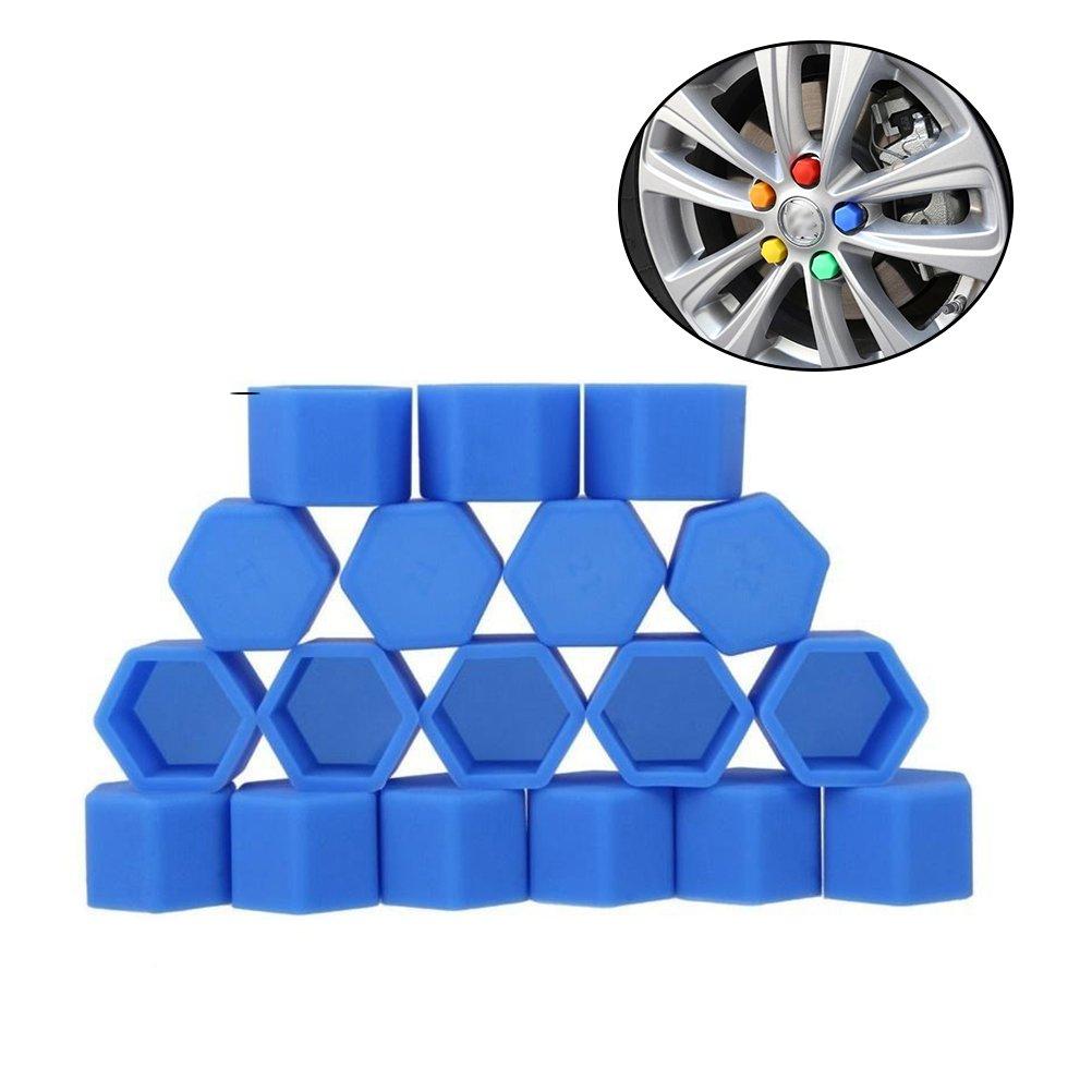 WINOMO Copridadi Copribulloni Copribulloni Copribulloni 19 mm per auto di plastica in Blu 20PCS