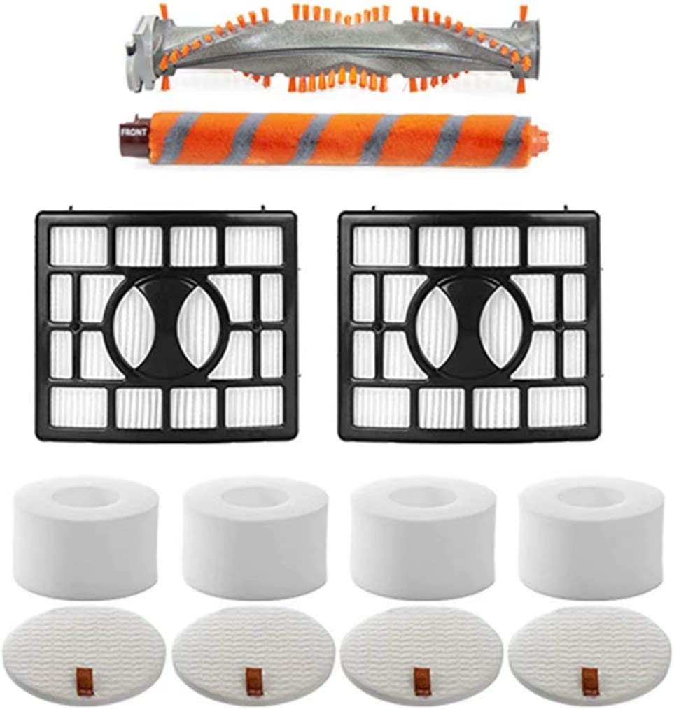 1 Set Brush Roll & 2 HEPA Filters & 4 Foam & Felt Filters Replacement Part Compatible with Shark NV800,NV800W,NV801,NV801Q,NV803,UV810 Upright Vacuum Cleaner