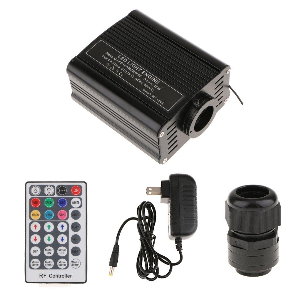 Jili Online 16W RGBW LED Light Driver Optic Fiber Light Illuminator Home Decor-US Plug
