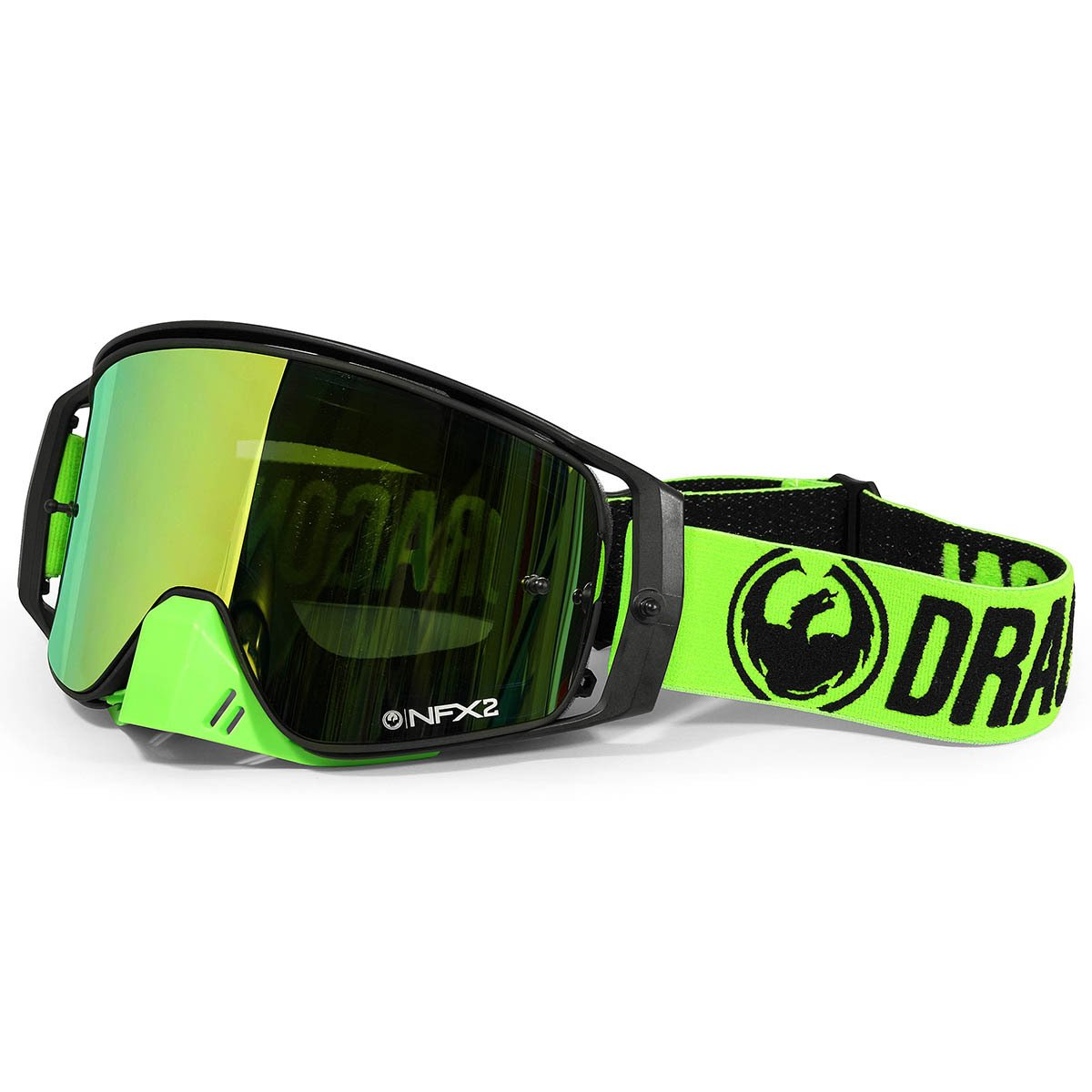 Dragon Alliance Break Green Unisex NFX2 Off-Road Goggles Eyewear, Injected Smoke, One Size