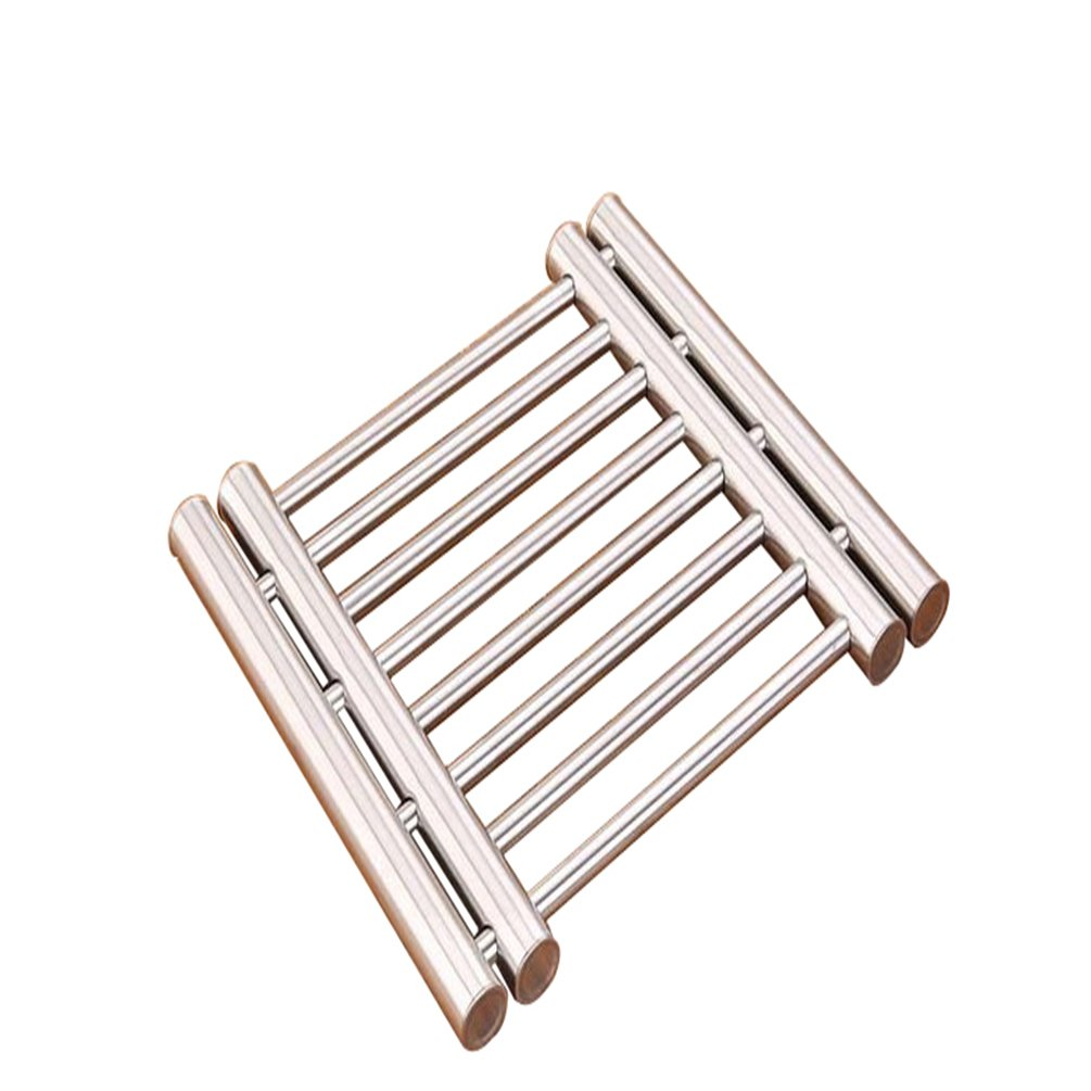 RAGAN Stainless Steel Extendable Trivet,Adjustable Placemat Pot Pad Rack,Protect Tables and Counters from Hot Plates, Oven Pans, Hot Pot Kitchen Tools