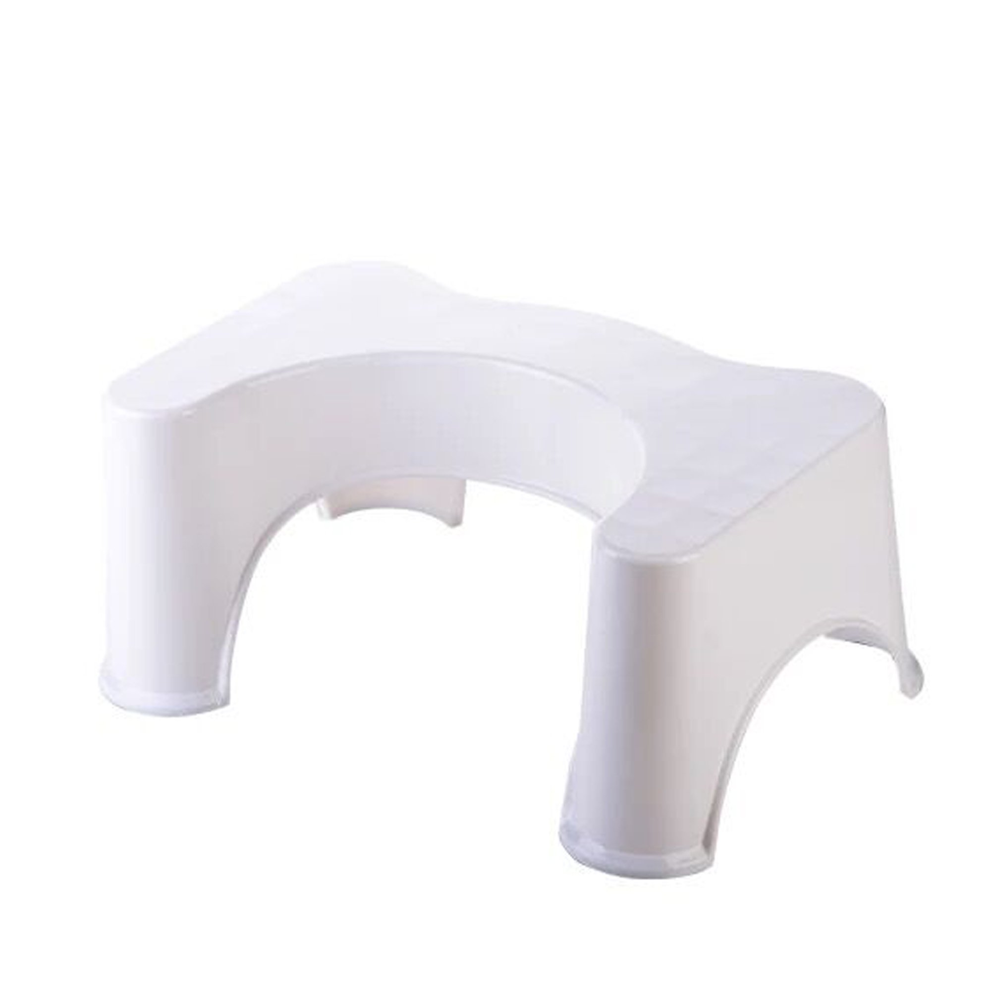 FYJUSTICE Footstool,The Original Bathroom Toilet Stool,7'',9'',3Colors,10-15Days To Arrive (WHITE-LARGE)