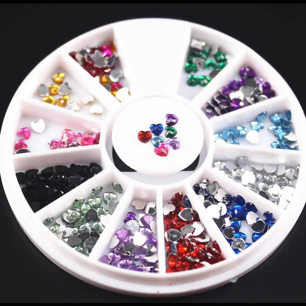1Pcs Colorful Shiny Round Ultrathin Sequins Colorful Nail Art Decoration White AB Color Acrylic Diamond DIY #3 2 by DKjiaoso