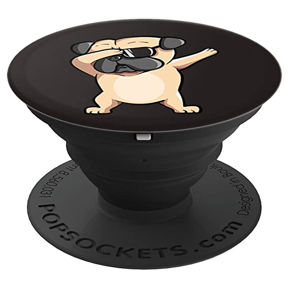 6cdd819a65f Image Unavailable. Image not available for. Color  Cool Pug Dog Dabbing  With Sunglasses - PopSockets Grip and Stand for Phones ...