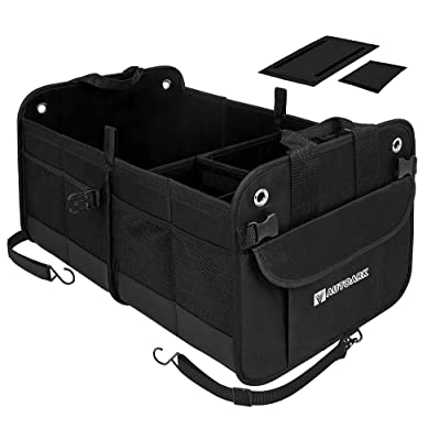 Autoark Multipurpose Car SUV Trunk Organizer,Durable Collapsible Adjustable Compartments Cargo Storage,AK-042: Automotive