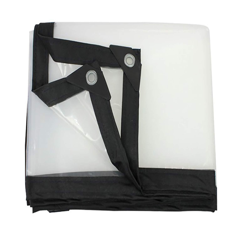 防雨防水シート グロメットと防水明確な防水シートカバー、屋根の屋外の破損の防止のための明確で透明な防水シートの防水シート多目的 (色 : クリア, サイズ さいず : 4x8m) B07RWLGQ6H クリア 4x8m