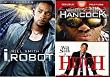 Hancock & Hitch + i, Robot (Widescreen Single-Disc Edition) Sci-Fi Comedy Will Smith DVD Movie Set