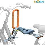 UrRider Child Bike Seat, Portable, Foldable & Ultralight Kids' Bicycle Carrier Baby Seat with Handrail for Cruiser Bikes, Foldable Bikes, City Shared Bikes